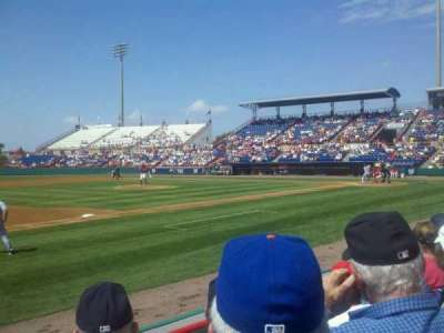 Space Coast Stadium, section: 104, row: 3, seat: 15