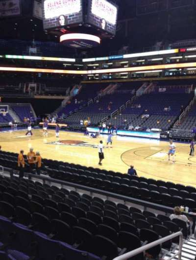 US Airways Center, section: 112, row: 10, seat: 22