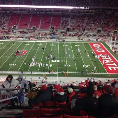 Ohio Stadium, section: 18c, row: 16, seat: 3