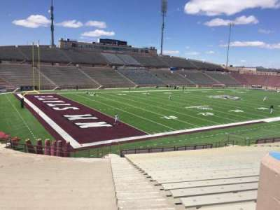 Aggie Memorial Stadium, section: X, row: 18, seat: 36