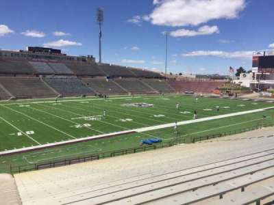 Aggie Memorial Stadium, section: W, row: 18, seat: 36