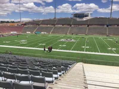 Aggie Memorial Stadium, section: G, row: 18, seat: 3