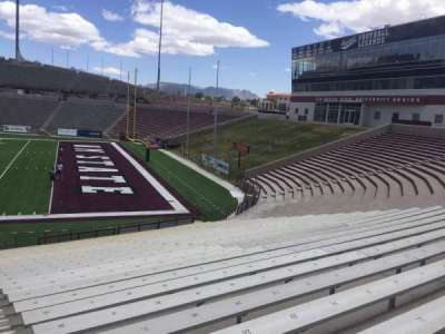 Aggie Memorial Stadium, section: F, row: 17, seat: 31