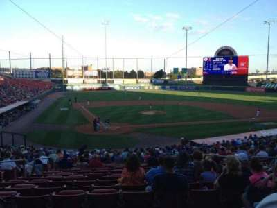 Coca-Cola Field, section: 106, row: BB, seat: 3