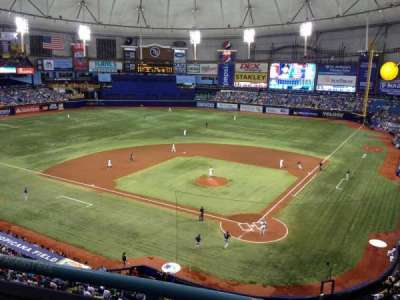 Tropicana Field, section: 303, row: B, seat: 3