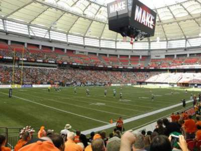 BC Place, section: 249, row: K, seat: 6