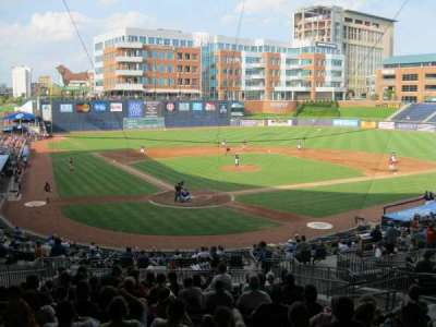 Durham Bulls Athletic Park, section: Press box