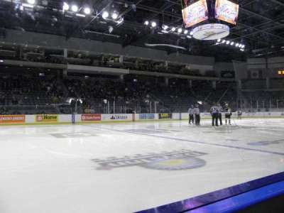 Rogers K-Rock Centre, section: 104, row: 1, seat: 18