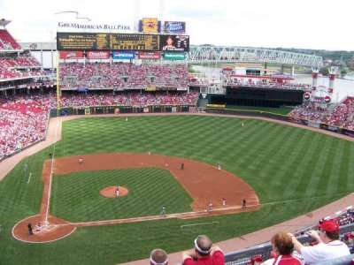 Great American Ball Park, section: 528, row: B, seat: 9