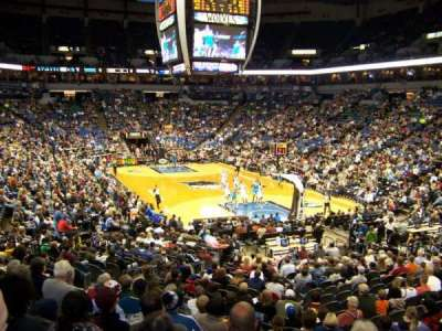 Target Center, section: 124, row: Q, seat: 18