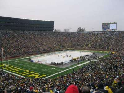 Michigan Stadium, section: 7, row: 74, seat: 2