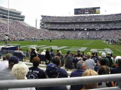 Beaver Stadium, section: NC, row: 1, seat: 6