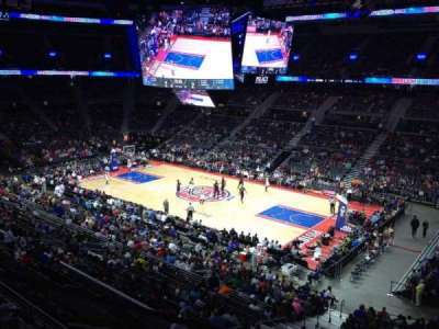 The Palace of Auburn Hills, section: 214, row: 1, seat: 4