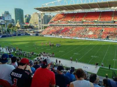 BMO Field, section: 221, row: 11, seat: 10