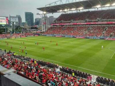 BMO Field, section: 220, row: 1, seat: 18