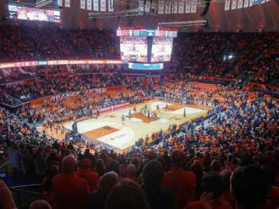 State Farm Center, section: 208, row: 9, seat: 4