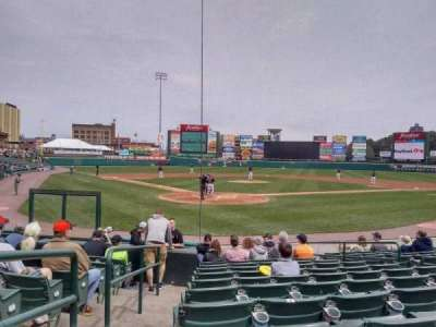Frontier Field, section: 114, row: M, seat: 1