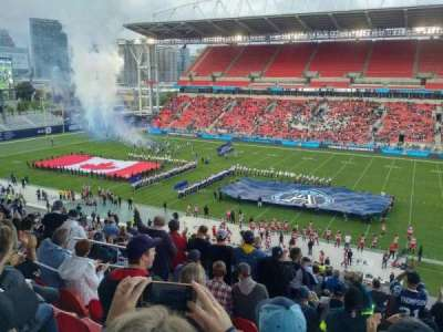 BMO Field, section: 221, row: 16, seat: 20