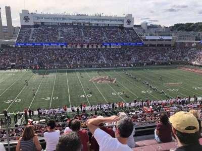 Alumni Stadium, section: QQ, row: 7, seat: 18