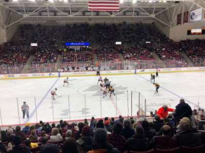 Conte Forum, section: A, row: 15, seat: 5