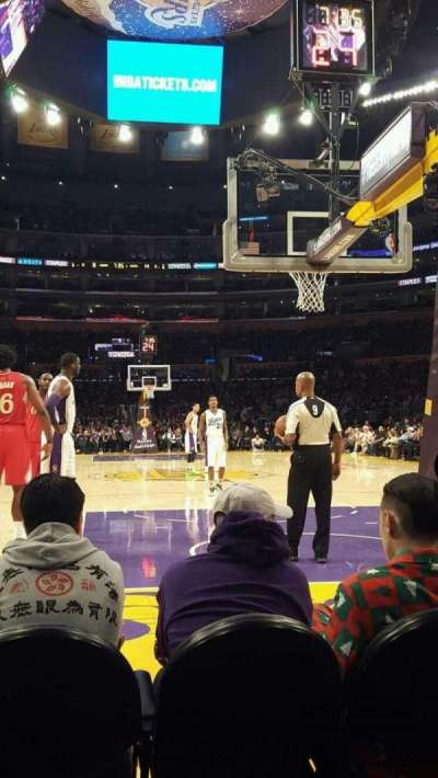 Staples Center, section: 116, row: A, seat: 4