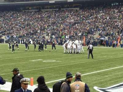 CenturyLink Field, section: 104, row: A, seat: 4