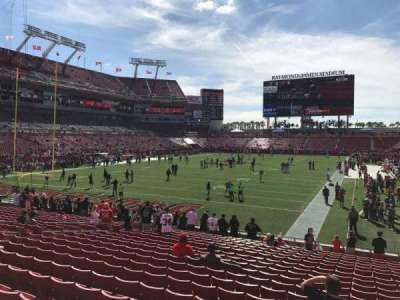 Raymond James Stadium, section: 150, row: W, seat: 18-20