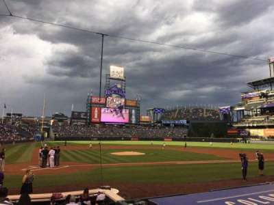 Coors Field, section: 126, row: 9, seat: 4
