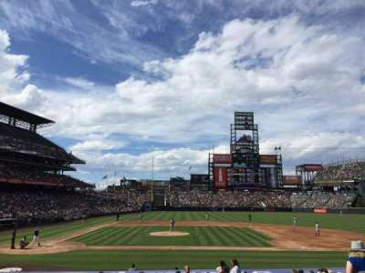 Coors Field, section: 124, row: 22, seat: 6