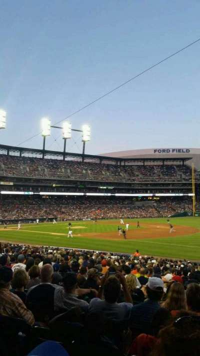 Comerica Park, section: 117, row: 32, seat: 1