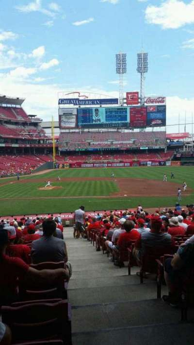 Great American Ball Park, section: 129, row: JJ, seat: 1
