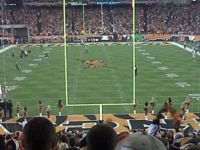 Paul Brown Stadium, section: End zone, row: 20, seat: 5