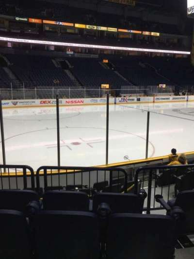 Bridgestone Arena, section: 103, row: Jj, seat: 5-6