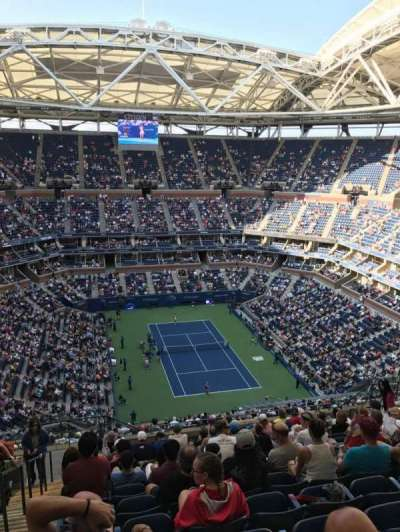Arthur Ashe Stadium, section: 340, row: M, seat: 18