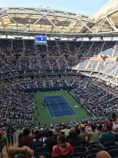 Arthur Ashe Stadium, section: 340, row: M, seat: 18