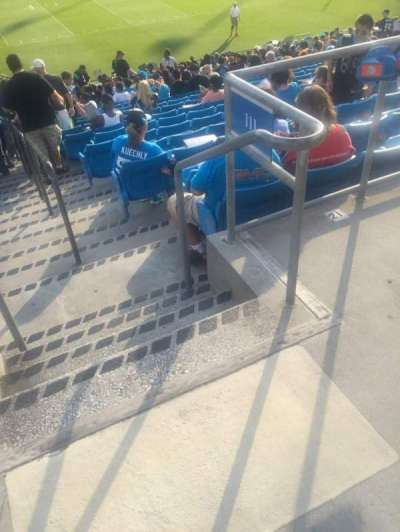 Bank of America Stadium, section: 111, row: 20, seat: 1