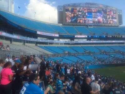 Bank of America Stadium, section: 112, row: 20, seat: 21