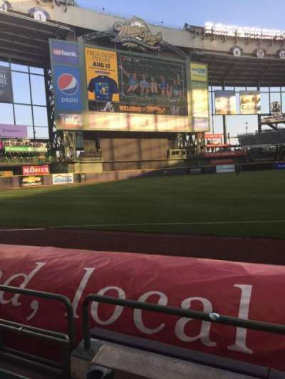 Miller Park, section: 126, row: 2, seat: 21