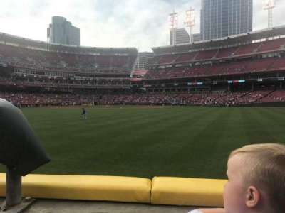 Great American Ball Park, section: 145, row: A, seat: 20