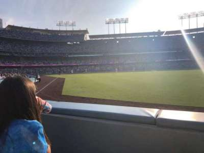 Dodger Stadium, section: 50FD, row: A, seat: 4