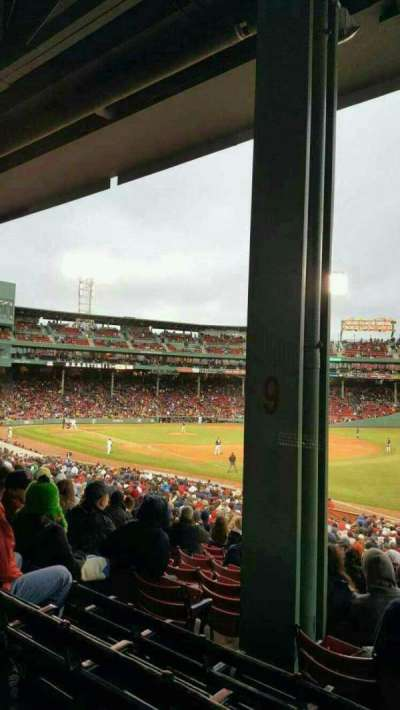 Fenway Park, section: Grandstand 9, row: 4, seat: 8