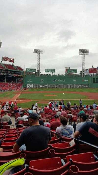 Fenway Park, section: Loge Box 122, row: KK, seat: 3