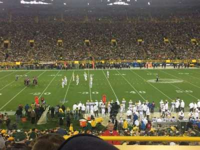 Lambeau Field, section: 116, row: 35, seat: 1
