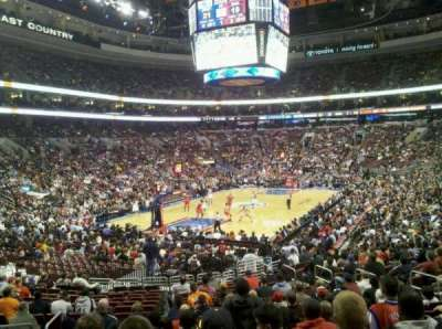 Wells Fargo Center, section: 109, row: 19, seat: 2