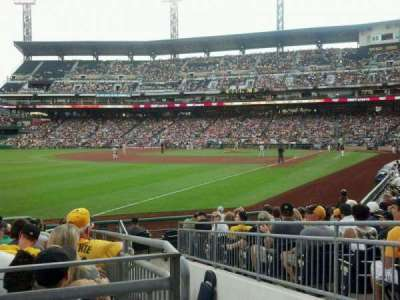 PNC Park, section: 131, row: A, seat: 2