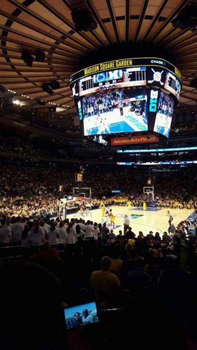 Madison Square Garden, section: 103, row: 7, seat: 14