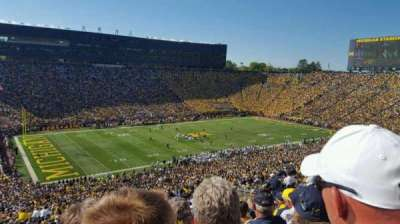 Michigan Stadium, section: 5, row: 86, seat: 3
