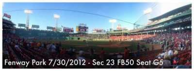 Fenway Park section 23-FB50