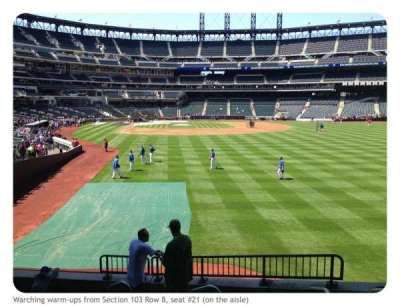 Citi Field, section: 103, row: 8, seat: 21