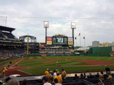 PNC Park, section: 113, row: F, seat: 7